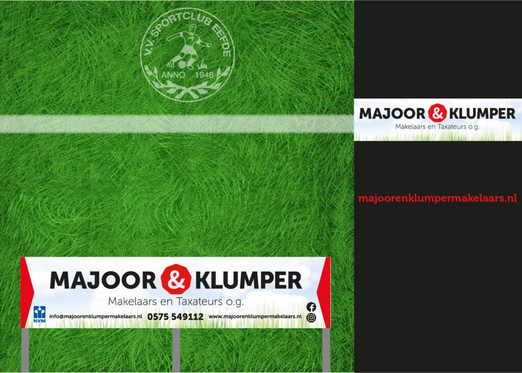 Projecten Majoor&Klumper makelaars sponsorbord sp-eefde